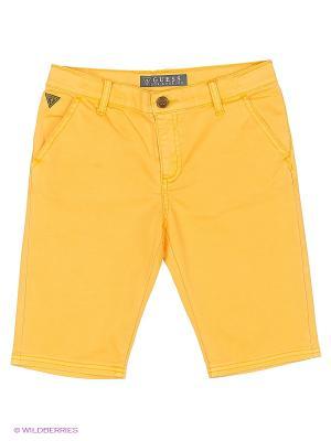 Шорты GUESS. Цвет: желтый