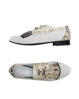 Обувь на шнурках GIONATA. Цвет: белый