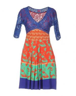 Короткое платье SAVE THE QUEEN. Цвет: синий