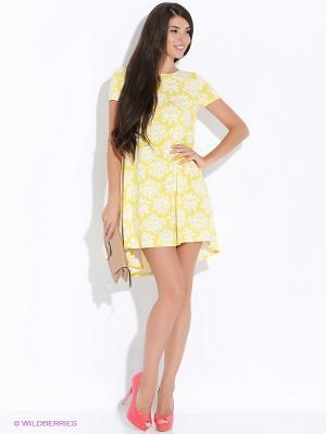 Платье Colambetta. Цвет: желтый, белый