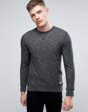 Esprit Черный базовый свитшот с круглым вырезом. Цвет: черный