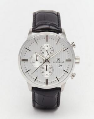 Accurist Черные часы из нержавеющей стали с хронографом. Цвет: черный