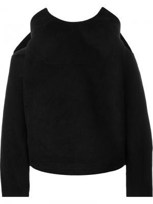 Блузка с круглым вырезом Martine Jarlgaard. Цвет: чёрный