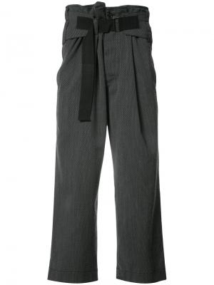 Loose fit cropped trousers Ann Demeulemeester. Цвет: серый