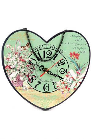 Часы настенные 23 см Русские подарки. Цвет: зеленый, черный