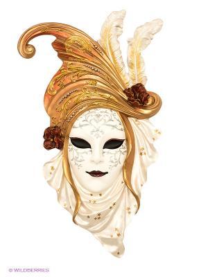 Венецианская маска Маки Veronese. Цвет: золотистый, белый, красный