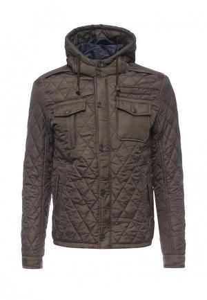 Куртка утепленная Justboy. Цвет: хаки