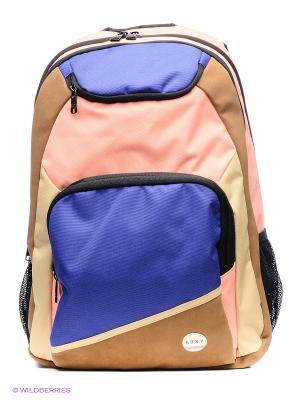 Рюкзак ROXY. Цвет: розовый, синий, бежевый