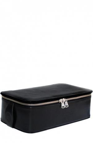 Кожаная косметичка Regency Box Bag Truefitt&Hill. Цвет: черный