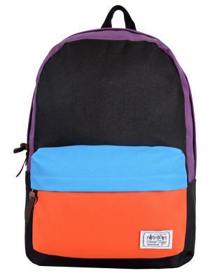 Рюкзак Street Bags. Цвет: голубой, оранжевый, фиолетовый
