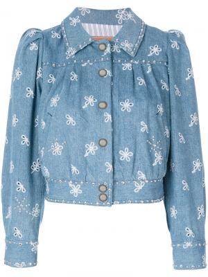 Куртка-бомбер Marc Jacobs. Цвет: синий