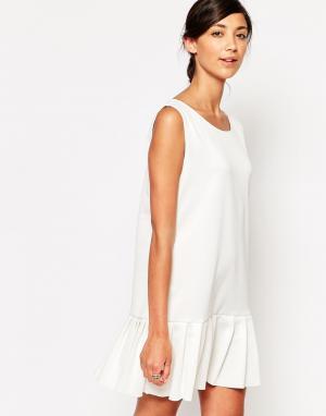 Tired Of Tokyo Платье без рукавов с заниженной талией. Цвет: белый