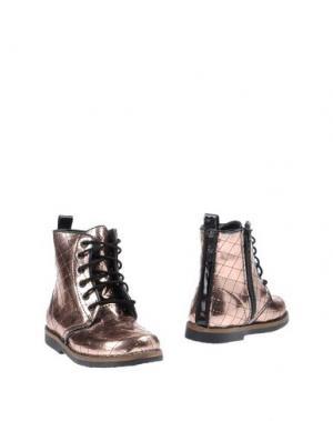 Полусапоги и высокие ботинки OCA-LOCA. Цвет: медный