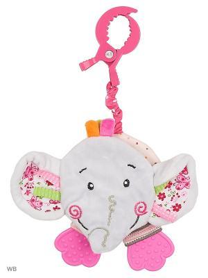 Подвеска-книжка с шуршалкой Слонёнок Тим Жирафики. Цвет: розовый, голубой