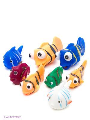 Набор рыбок для ванны, 8 шт. в пакете Globo. Цвет: синий, белый, зеленый