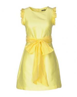 Короткое платье LA CAMICIA BIANCA. Цвет: желтый