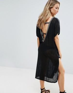Pitusa Пляжное платье. Цвет: черный