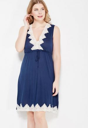 Сорочка ночная Cleo. Цвет: синий