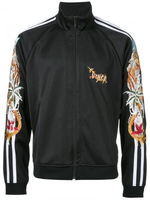 Спортивная куртка с вышивкой Doublet. Цвет: чёрный