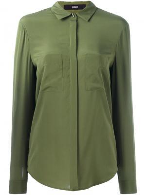 Рубашка с накладными карманами Steffen Schraut. Цвет: зелёный