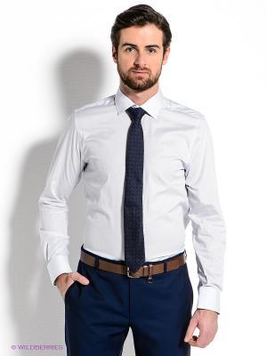 Рубашка MONDIGO. Цвет: голубой, белый