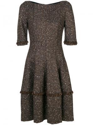Платье Northside Talbot Runhof. Цвет: коричневый