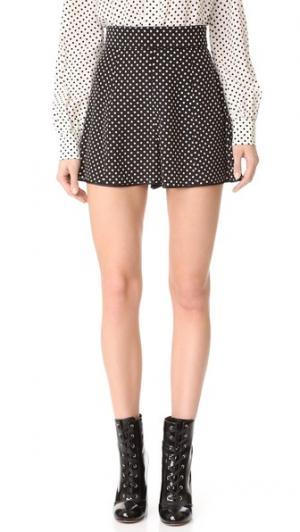 Короткие шорты в горошек Marc Jacobs. Цвет: черный/кремовый