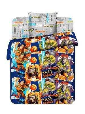 Комплект постельного белья Звездные войны Василек. Цвет: синий, серый