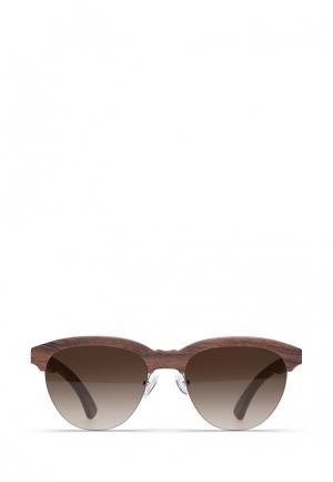 Солнцезащитные очки Woodsun. Цвет: коричневый