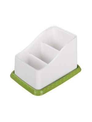 Подставка под столовые приборы Каскад (бело-зел.) Альтернатива. Цвет: белый, зеленый