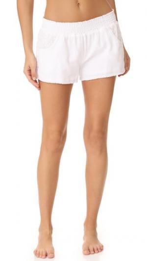 Пижамные шорты White It Out PJ Salvage. Цвет: белый