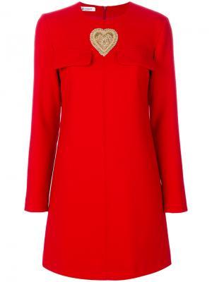 Heart detail dress Dondup. Цвет: красный