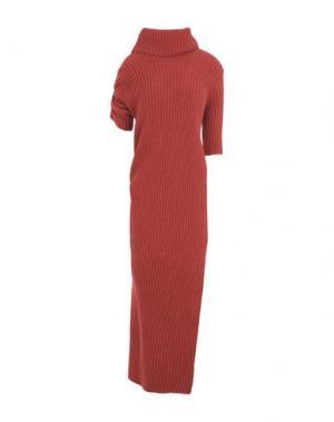 Платье длиной 3/4 HELEN LAWRENCE. Цвет: кирпично-красный