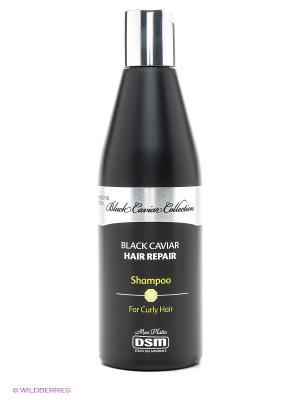 Восстанавливающий шампунь для вьющихся волос Black Caviar Collection, 400 мл Mon Platin DSM. Цвет: черный