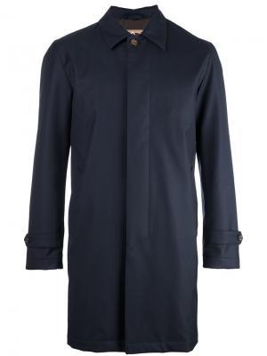 Однобортное пальто Sealup. Цвет: синий