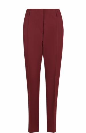 Укороченные брюки прямого кроя со стрелками Dries Van Noten. Цвет: бордовый