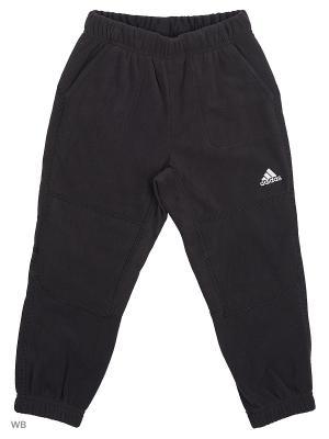 Трикотажные брюки дет. спорт. BG FLEECE P Adidas. Цвет: черный