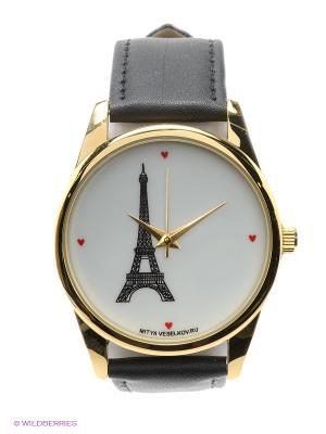 Часы Mitya Veselkov Париж. Цвет: черный