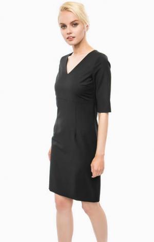 Черное платье с разрезом сзади Cinque. Цвет: черный