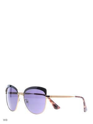Очки солнцезащитные PRADA. Цвет: синий, золотистый