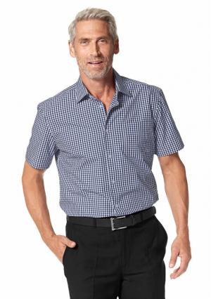 Рубашка с короткими рукавами STUDIO COLETTI. Цвет: бирюзовый/в клетку