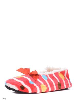 Носки-тапочки ИП Тарнавский С.И.. Цвет: красный