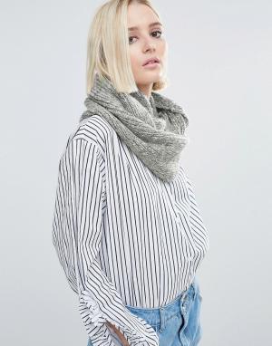 Eugenia Kim Светло-серый вязаный шарф Genie by Lane. Цвет: серый