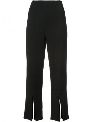 Укороченные брюки с разрезами снизу Cushnie Et Ochs. Цвет: чёрный