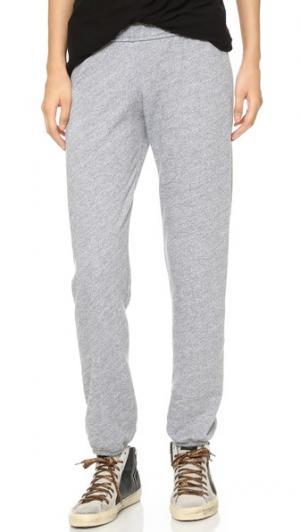 Спортивные брюки с отворотами MONROW. Цвет: серый меланж