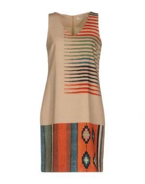 Короткое платье NICE THINGS by PALOMA S.. Цвет: песочный