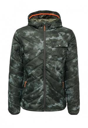 Куртка утепленная Rip Curl. Цвет: зеленый