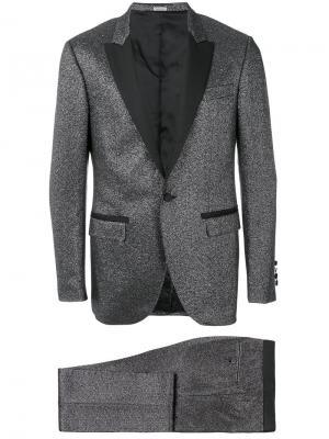 Нарядный костюм с люрексом Lanvin. Цвет: серый
