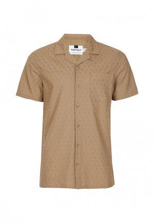 Рубашка Topman. Цвет: бежевый
