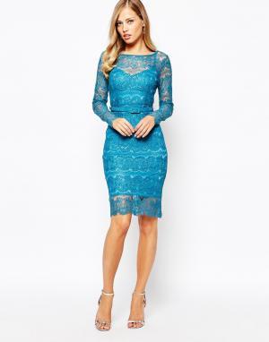 Body Frock Платье цвета топаза Lisa. Цвет: синий